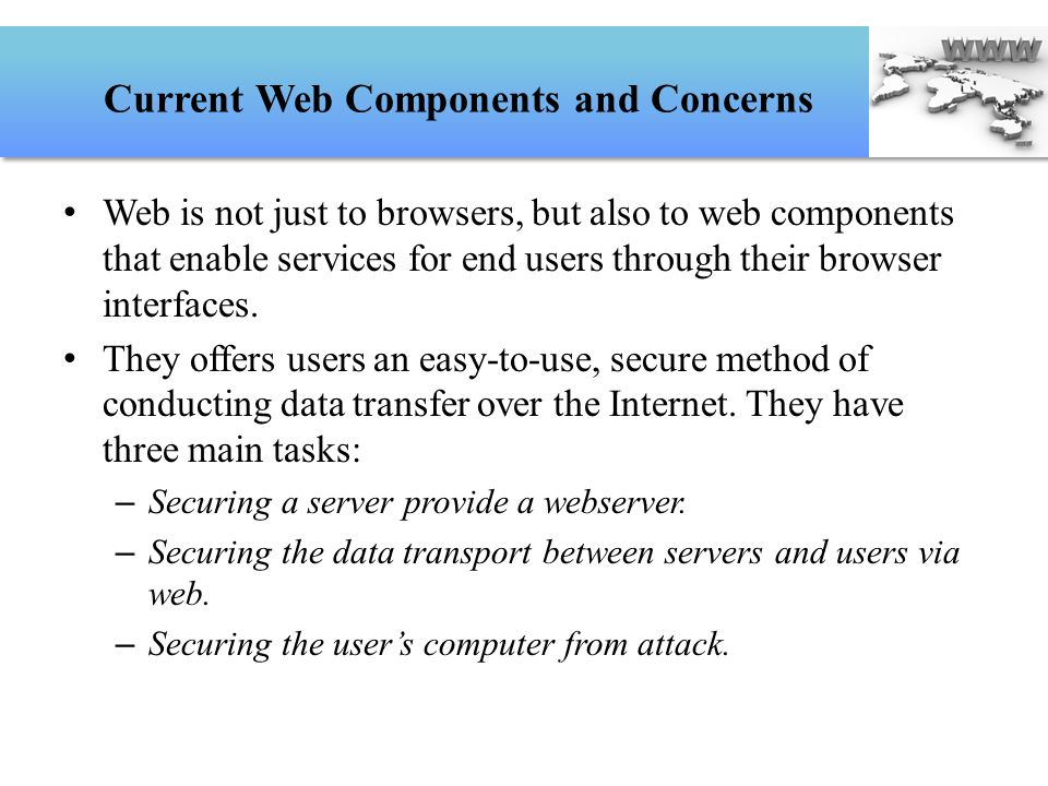 Current Web Components and Concerns