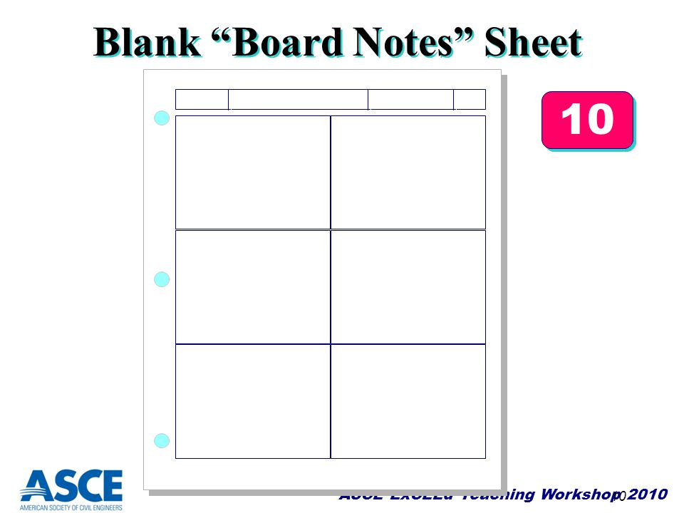 Blank Board Notes Sheet