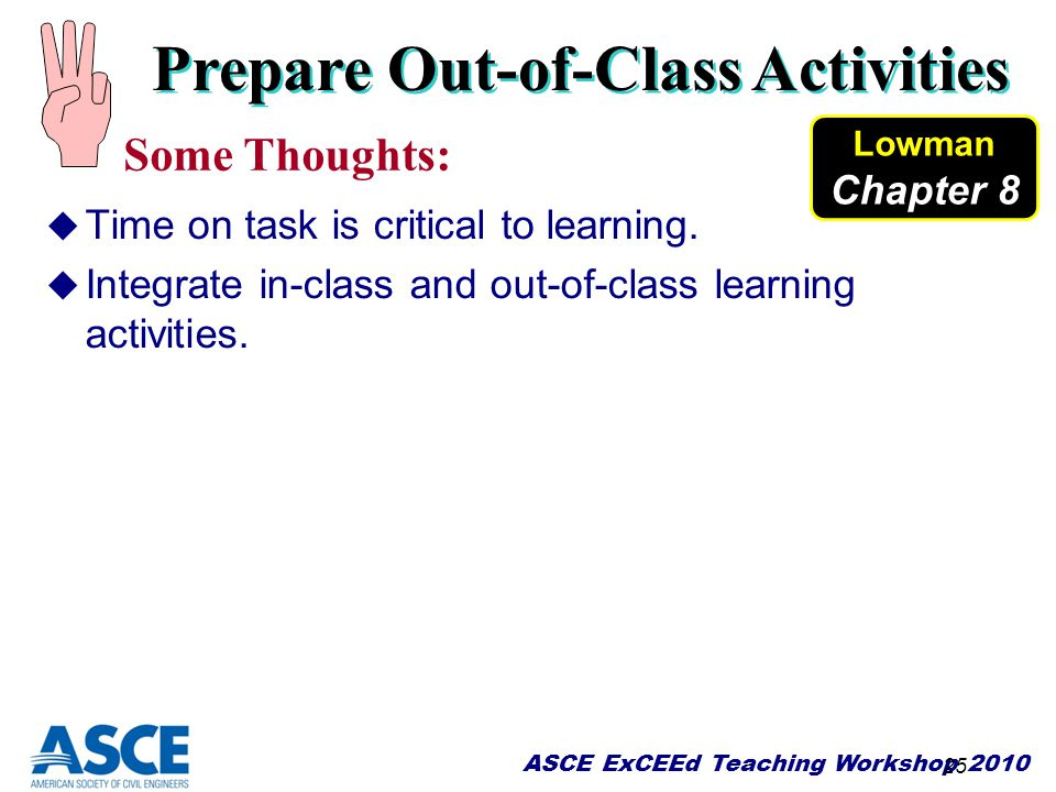 Prepare Out-of-Class Activities