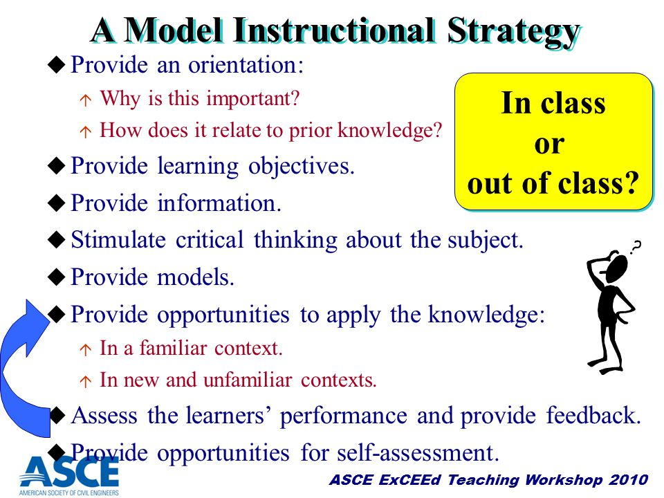 A Model Instructional Strategy