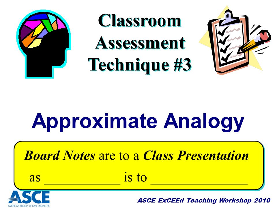 Classroom Assessment Technique #3
