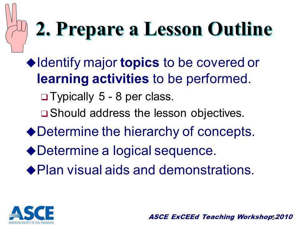 2. Prepare a Lesson Outline