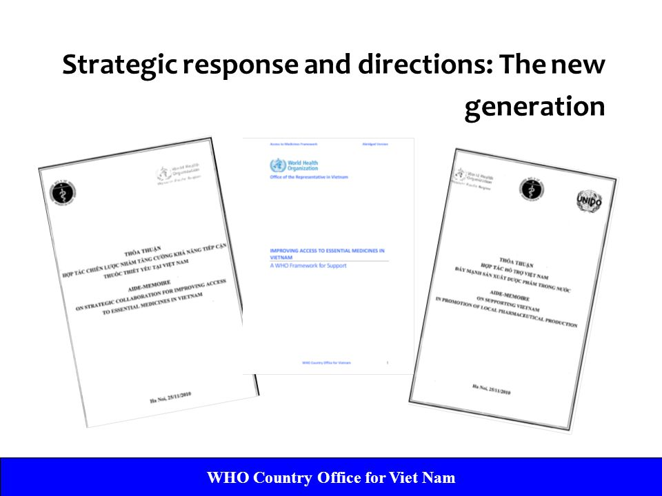 Strategic response and directions: The new generation