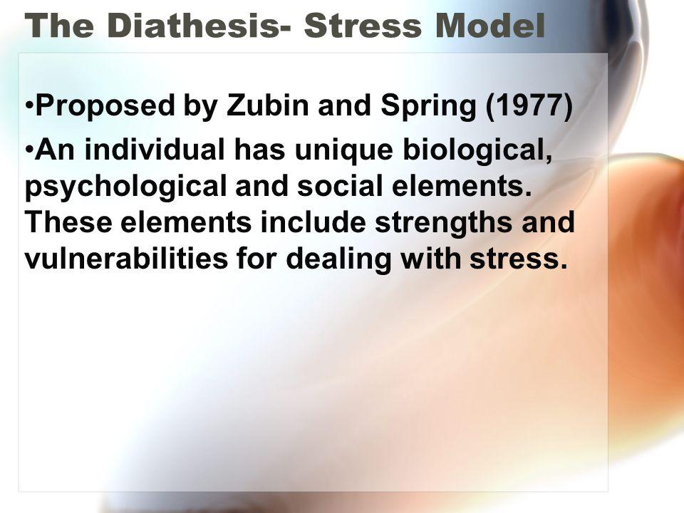 The Diathesis- Stress Model