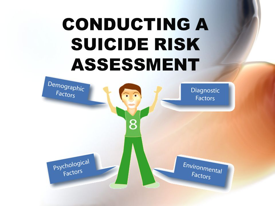 CONDUCTING A SUICIDE RISK ASSESSMENT