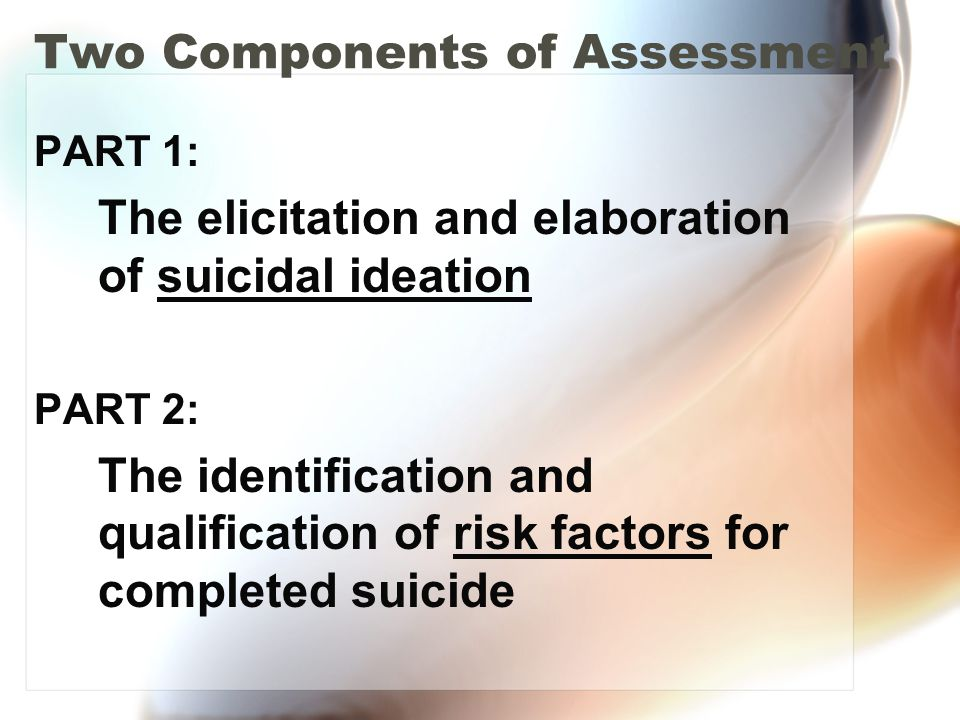 Two Components of Assessment
