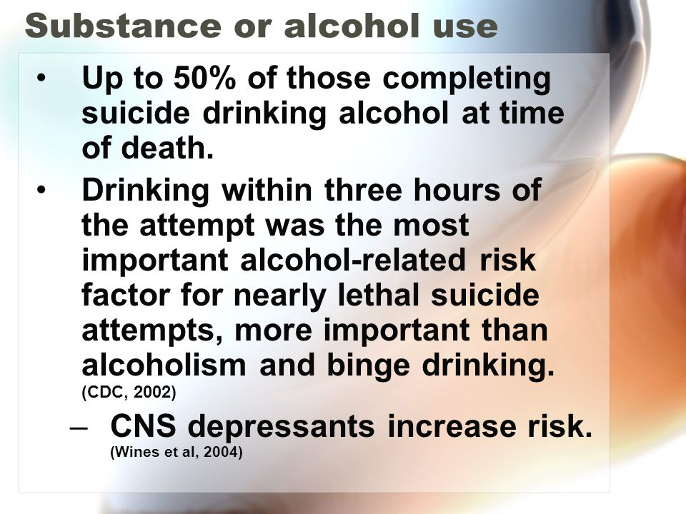 Substance or alcohol use