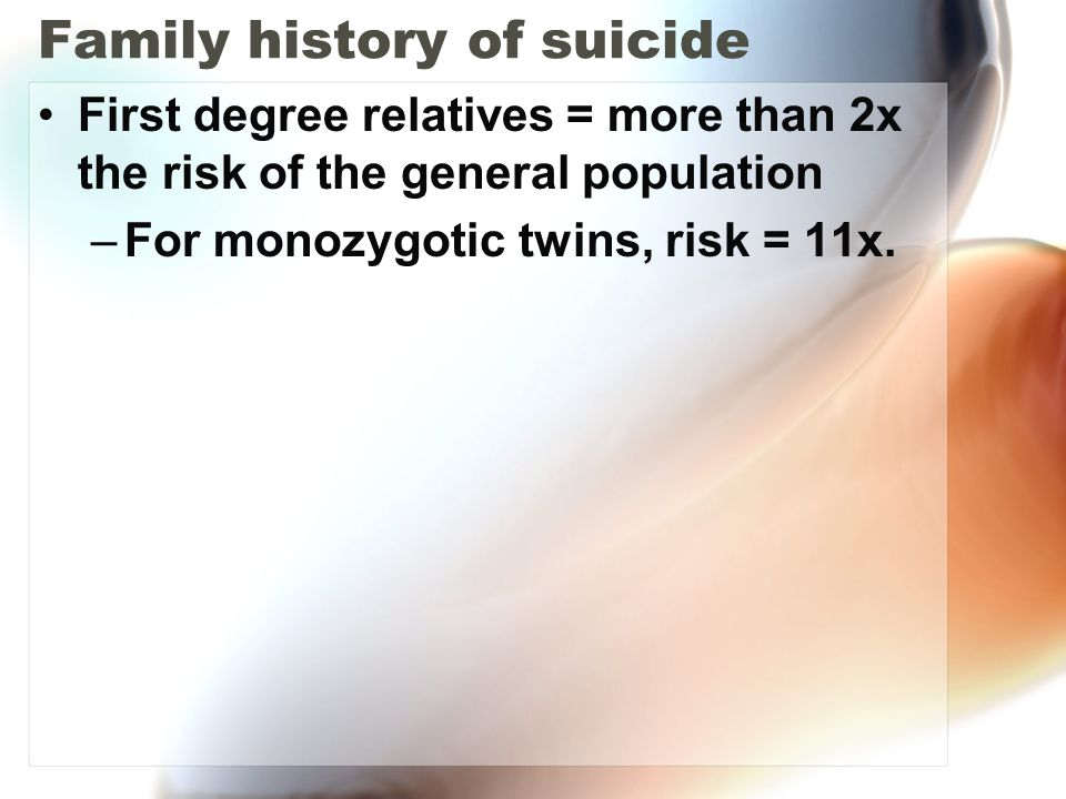Family history of suicide