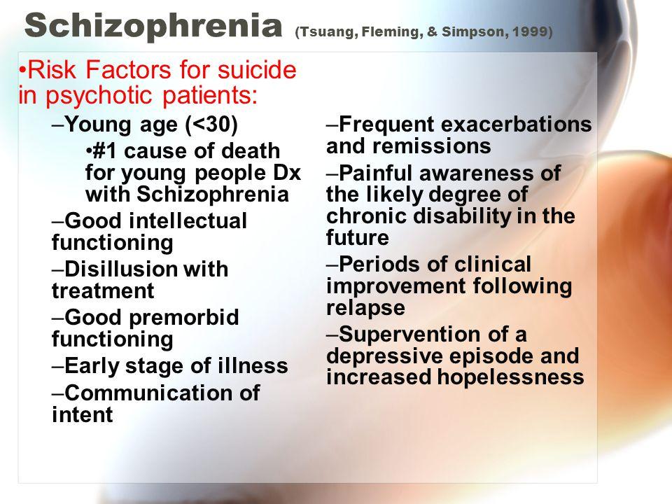 Schizophrenia (Tsuang, Fleming, & Simpson, 1999)