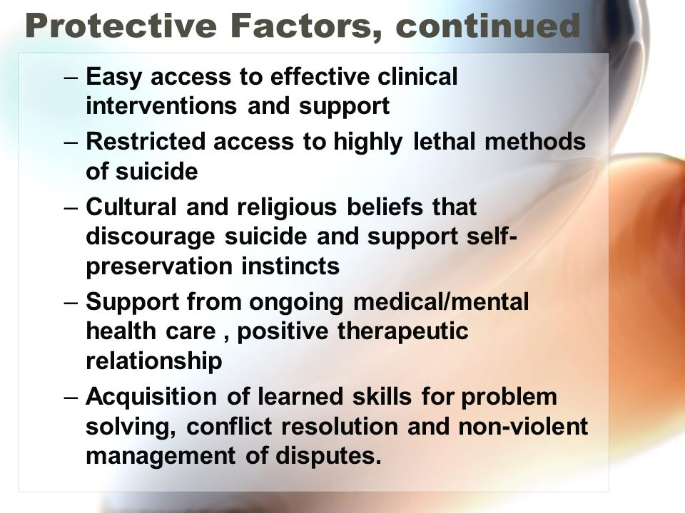 Protective Factors, continued