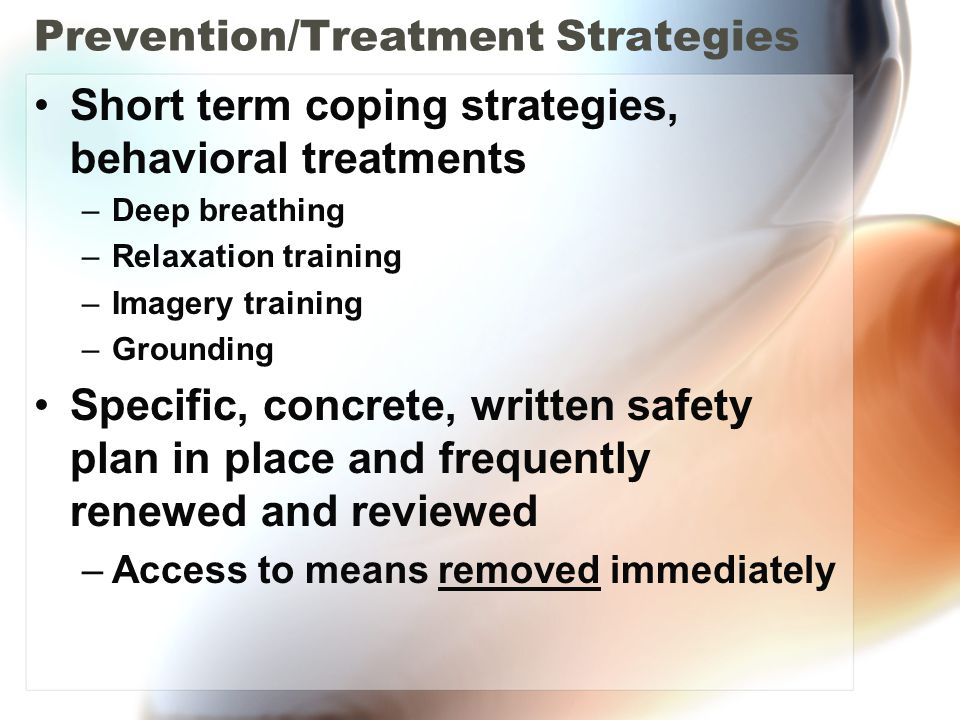 Prevention/Treatment Strategies