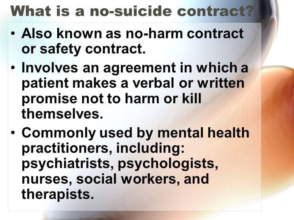 What is a no-suicide contract