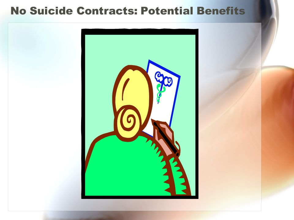 No Suicide Contracts: Potential Benefits