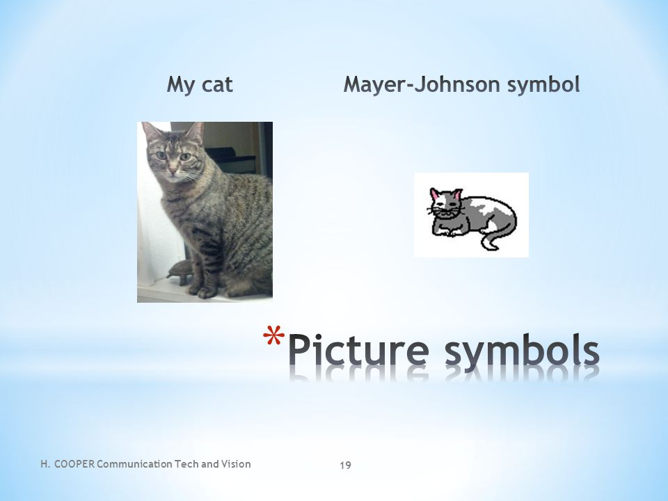 Picture symbols My cat Mayer-Johnson symbol