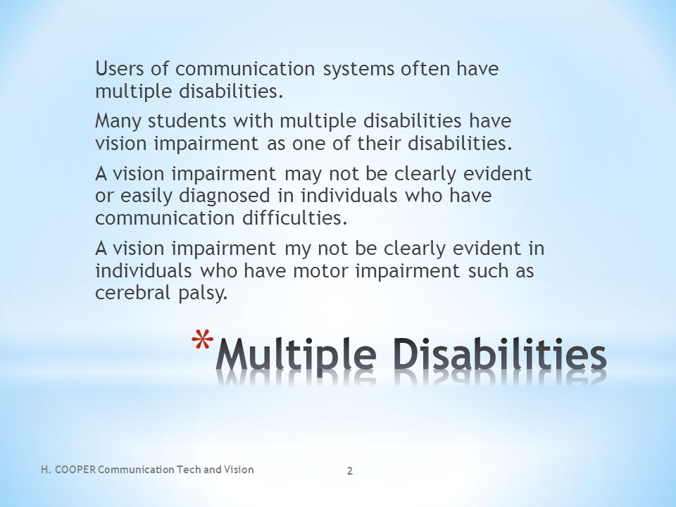 Multiple Disabilities