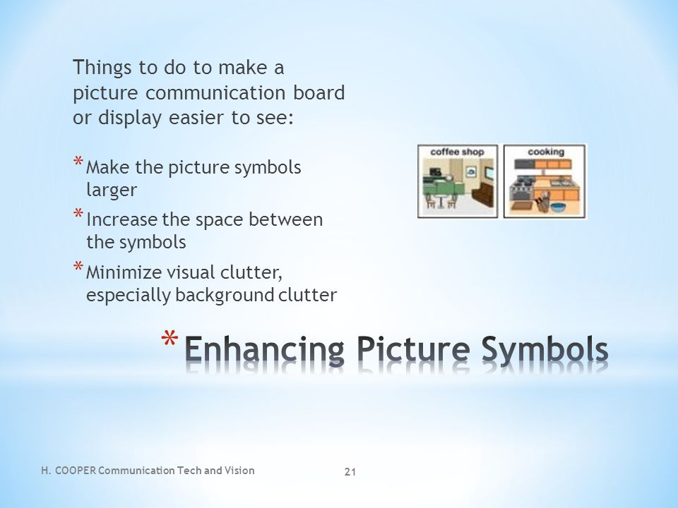 Enhancing Picture Symbols