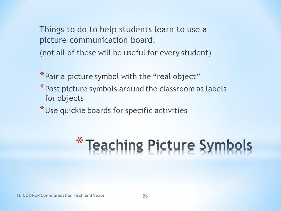 Teaching Picture Symbols