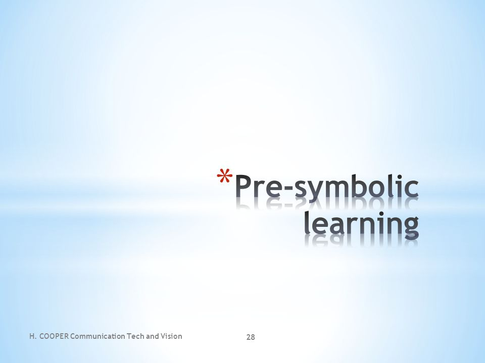 Pre-symbolic learning
