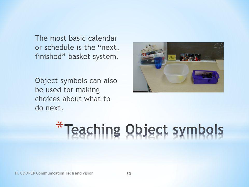 Teaching Object symbols
