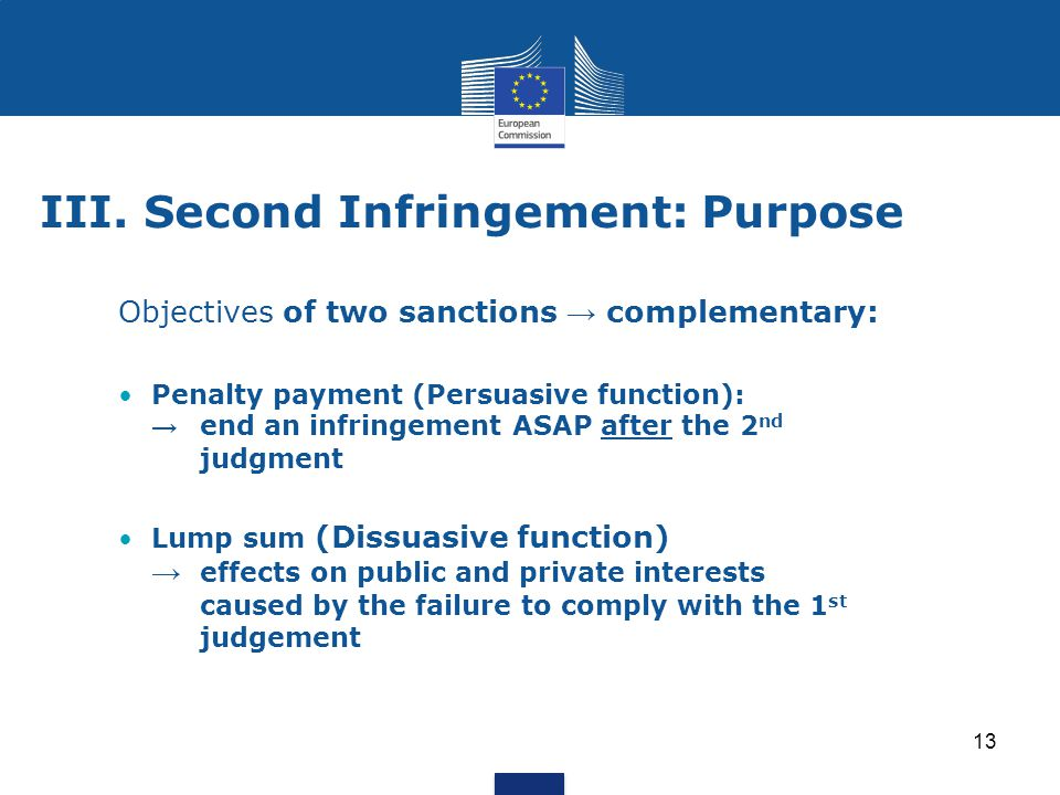 III. Second Infringement: Purpose