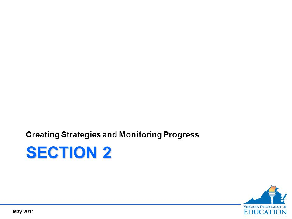 Creating Strategies and Monitoring Progress