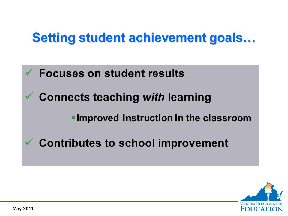 Setting student achievement goals…