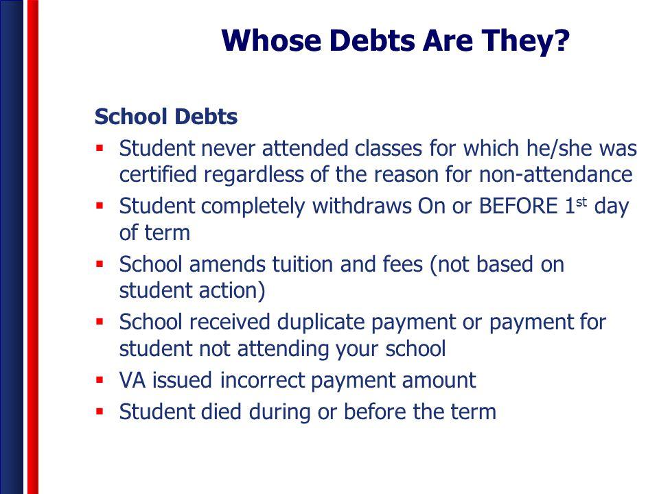 Whose Debts Are They School Debts