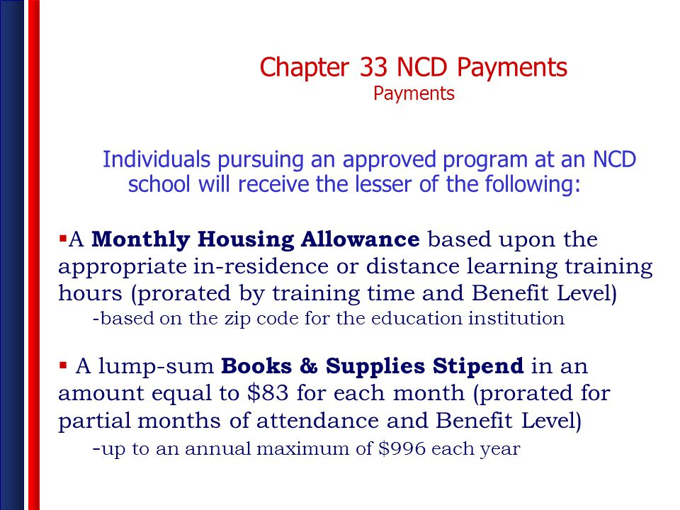 Chapter 33 NCD Payments Payments