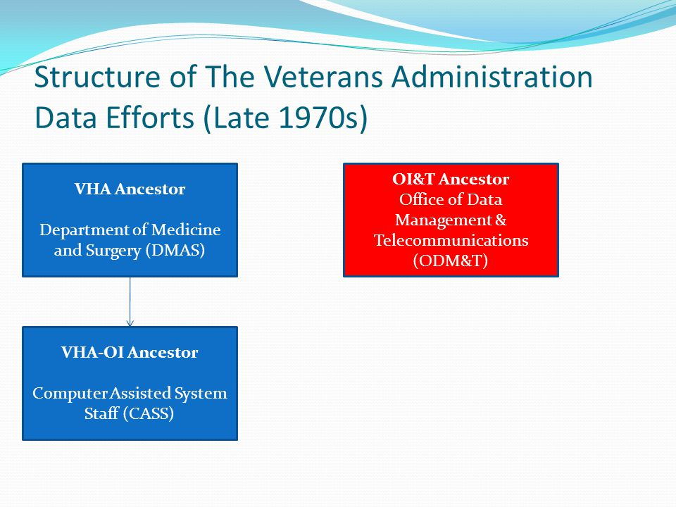 Structure of The Veterans Administration Data Efforts (Late 1970s)