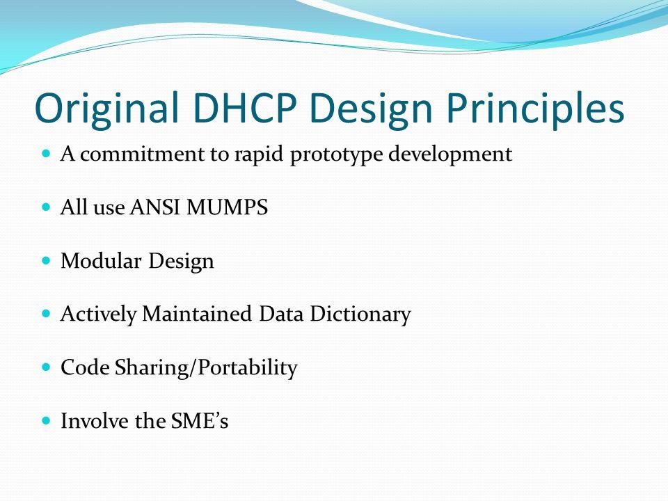 Original DHCP Design Principles