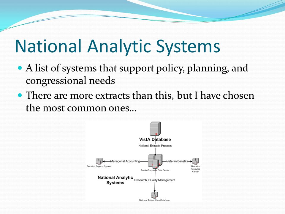 National Analytic Systems