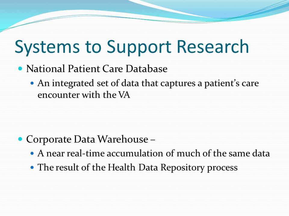 Systems to Support Research