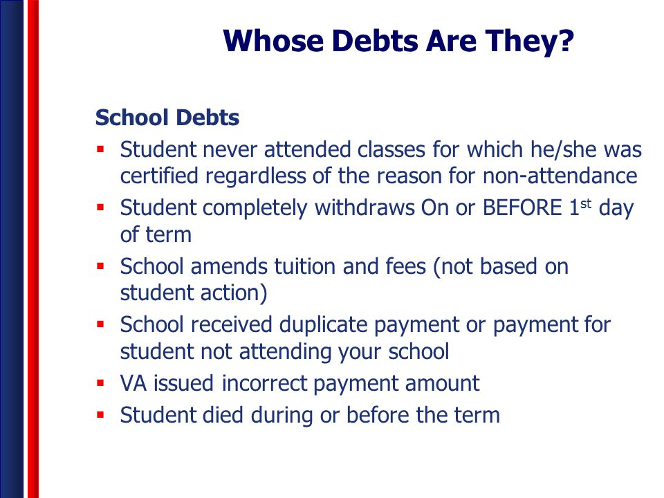Whose Debts Are They School Debts