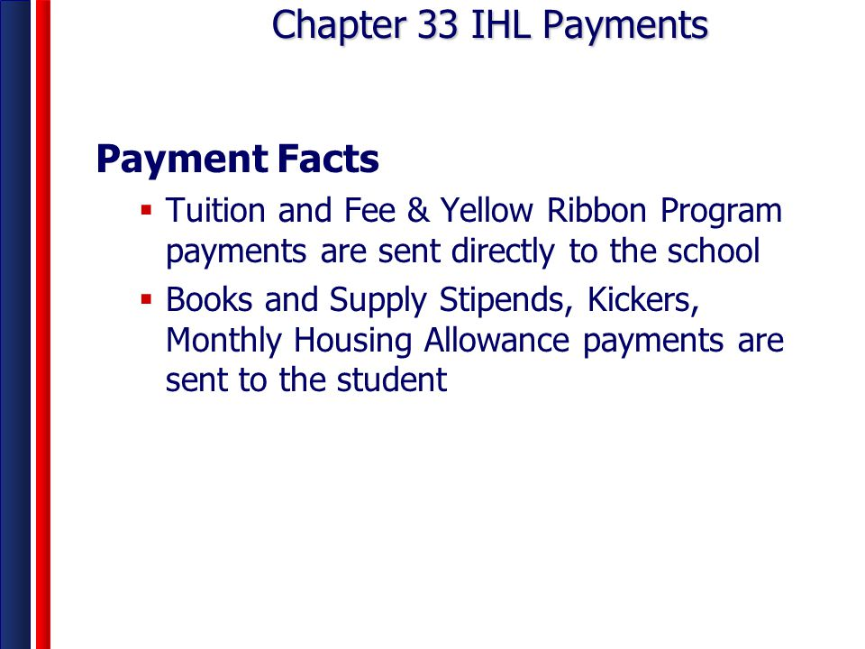 Chapter 33 IHL Payments Payment Facts