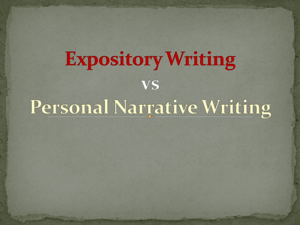 personal essay vs personal narrative Free personal narrative papers, essays, and research papers.