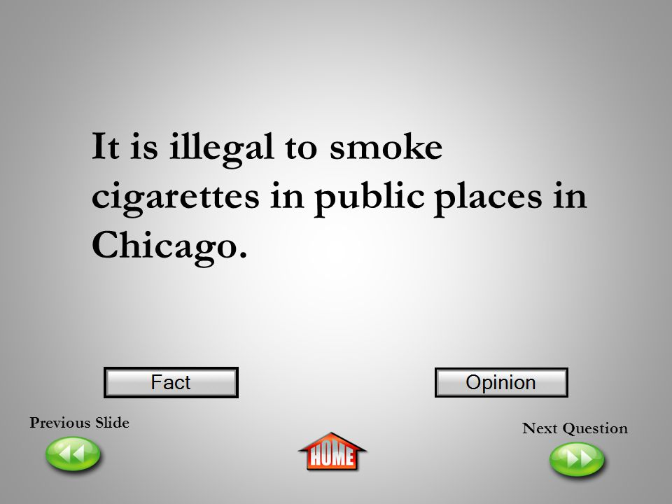 It is illegal to smoke cigarettes in public places in Chicago.