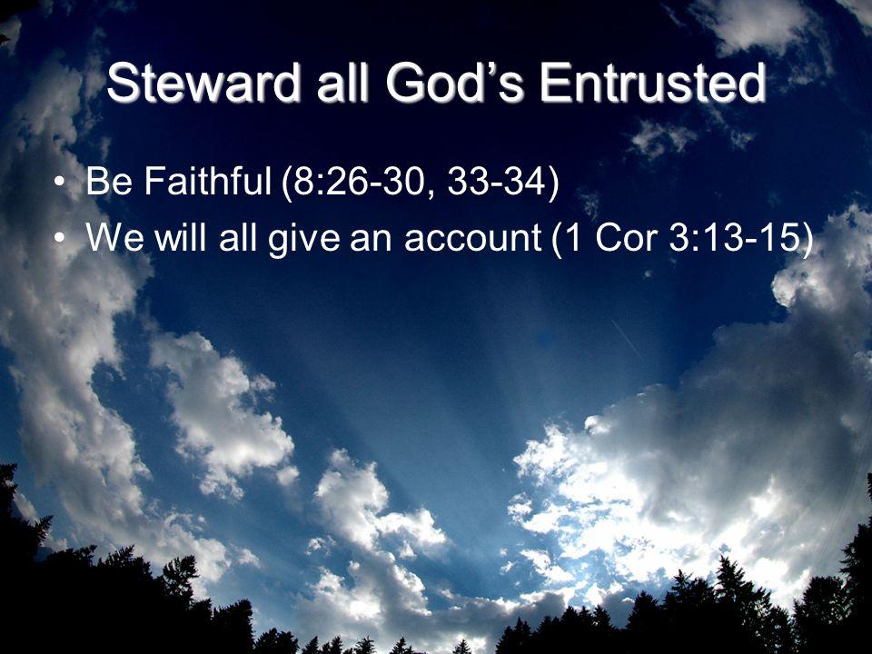 Steward all God's Entrusted