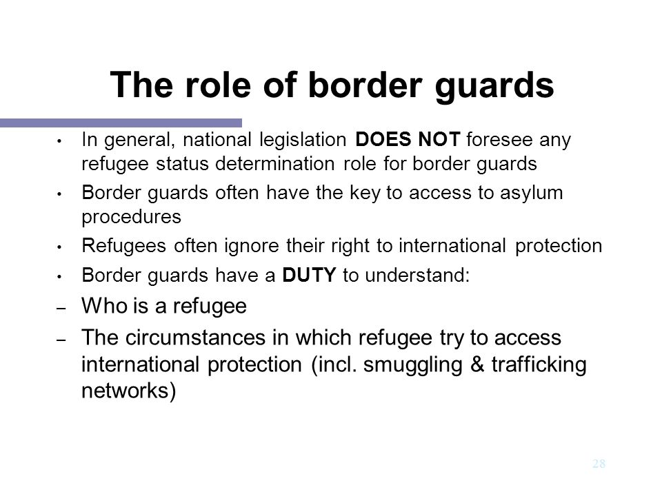 The role of border guards