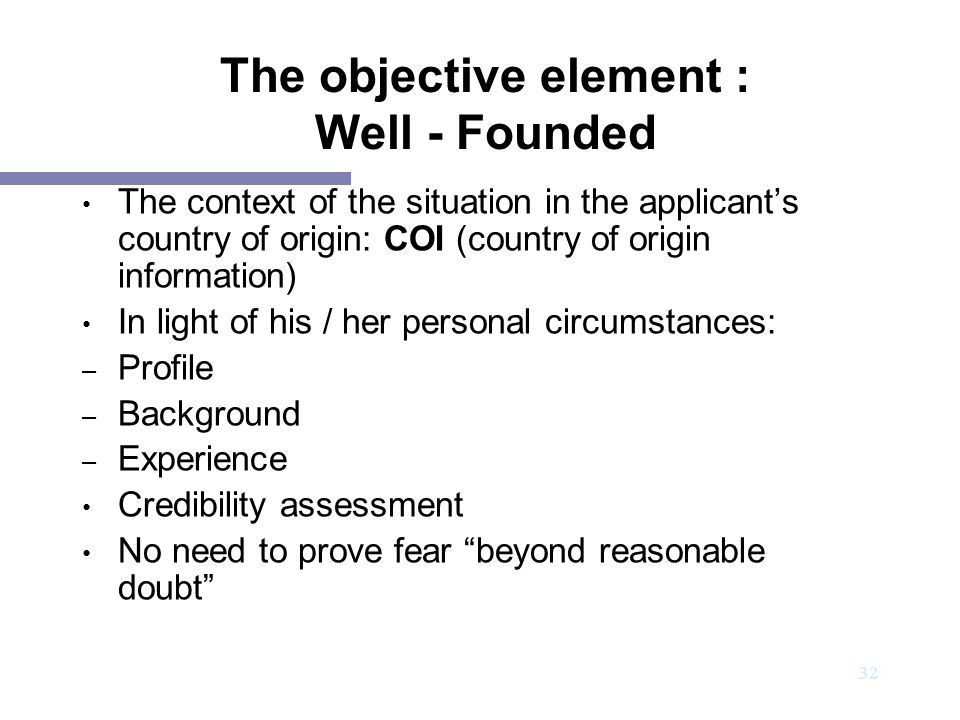 The objective element : Well - Founded