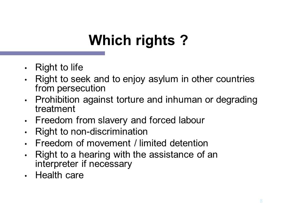 Which rights Right to life