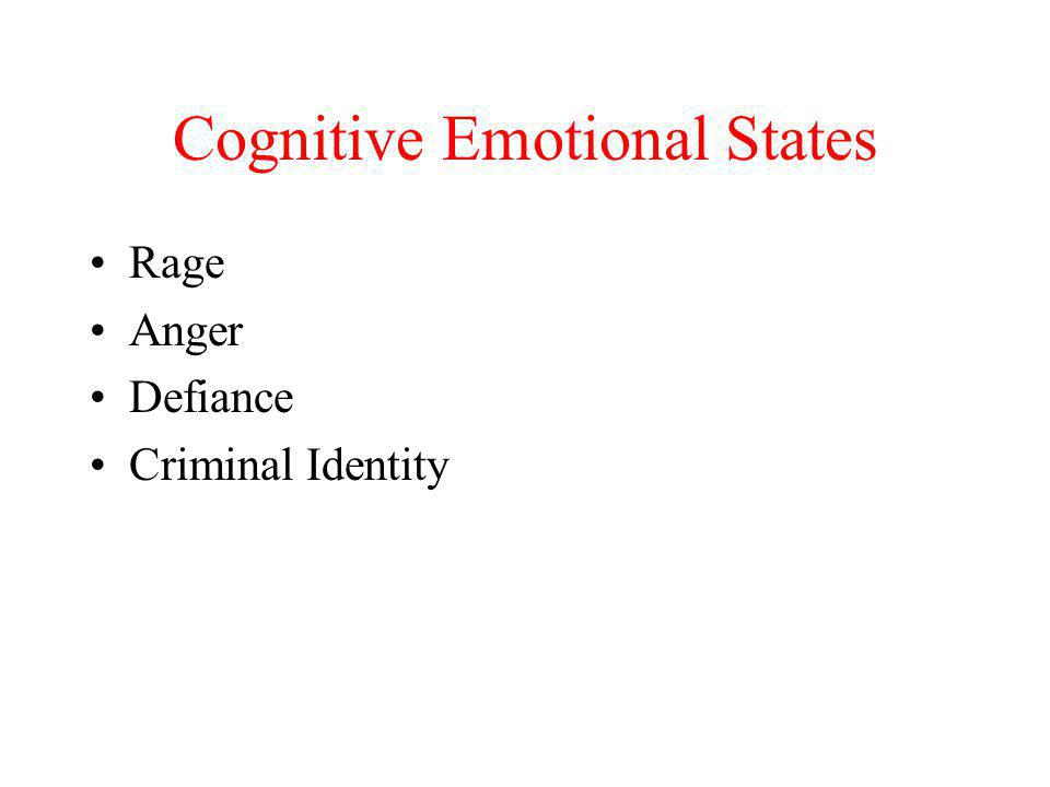 Cognitive Emotional States