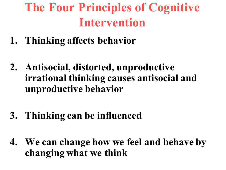 The Four Principles of Cognitive Intervention