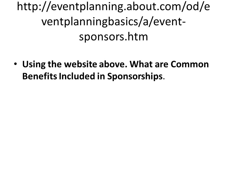 http://eventplanning. about