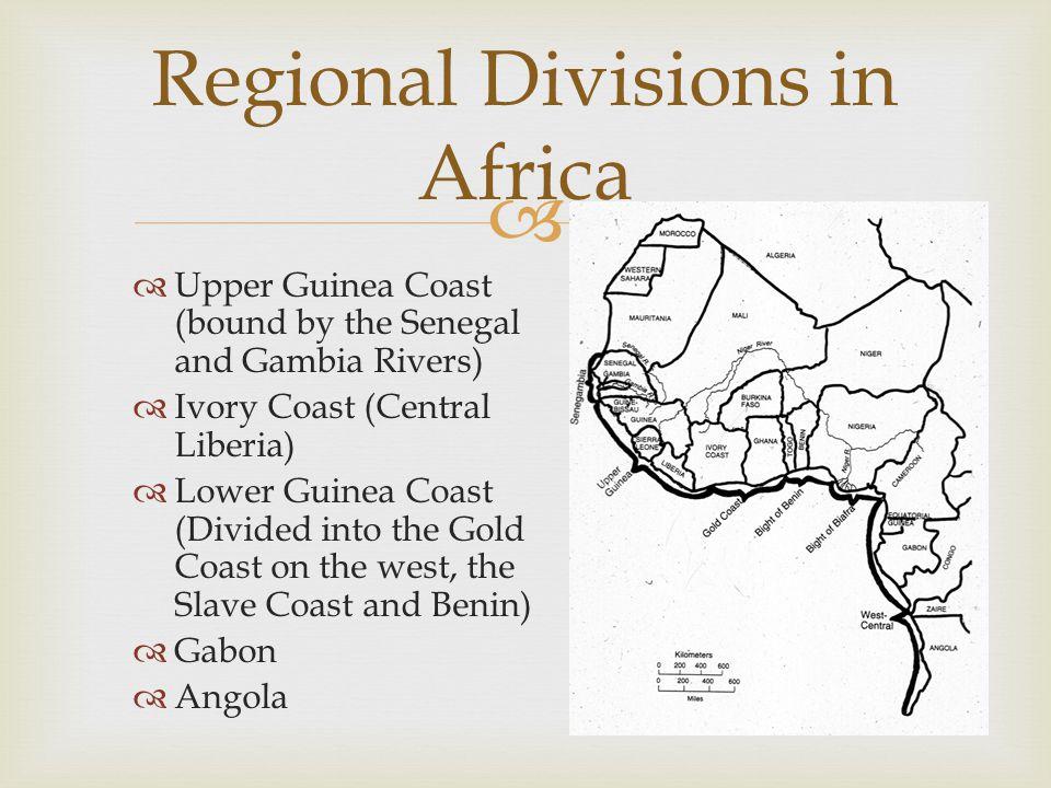 Regional Divisions in Africa