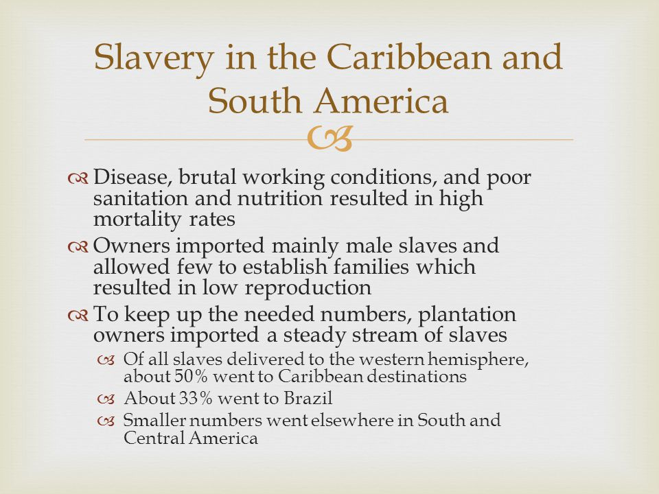 Slavery in the Caribbean and South America