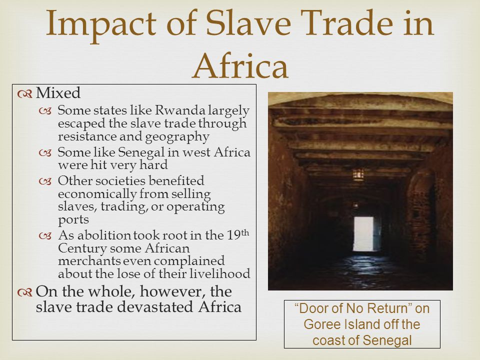 Impact of Slave Trade in Africa