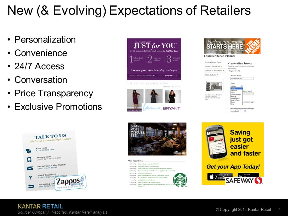 New (& Evolving) Expectations of Retailers