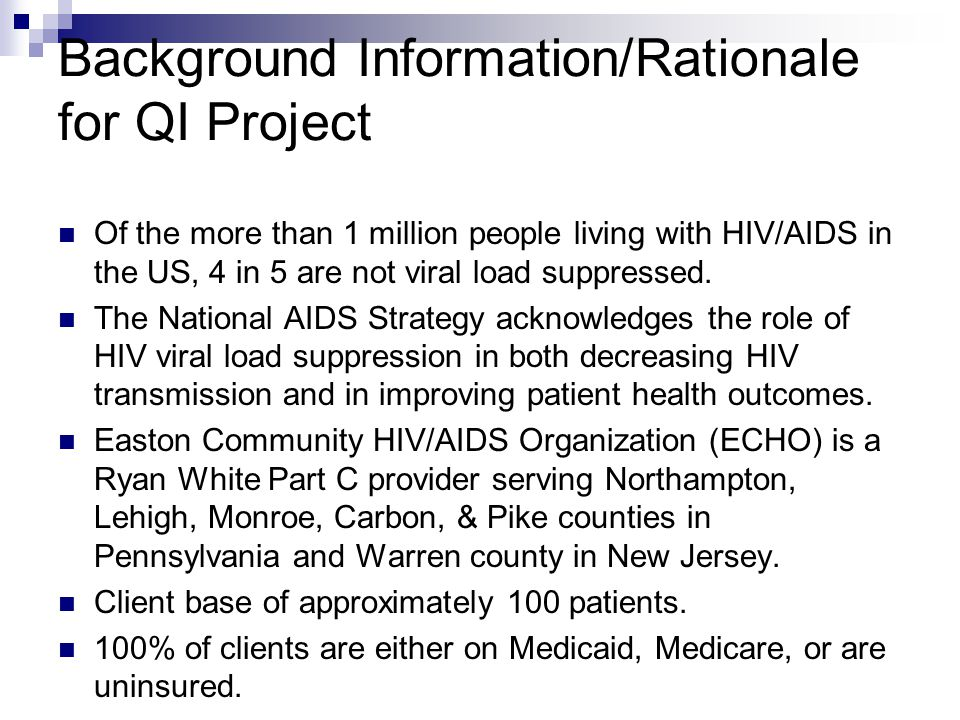 Background Information/Rationale for QI Project