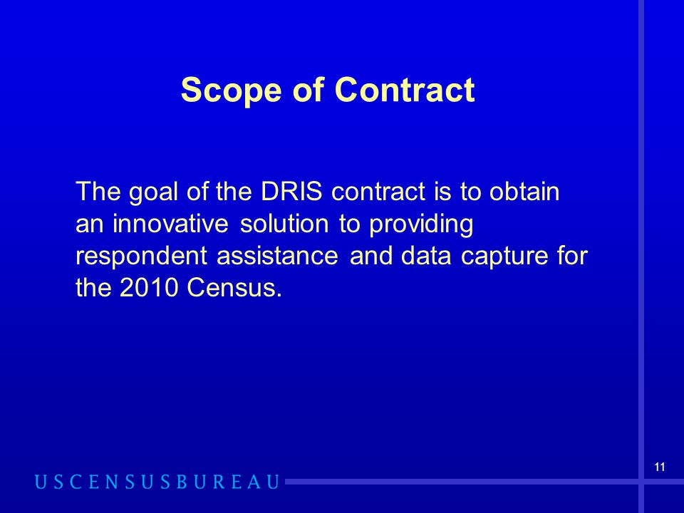 Scope of Contract