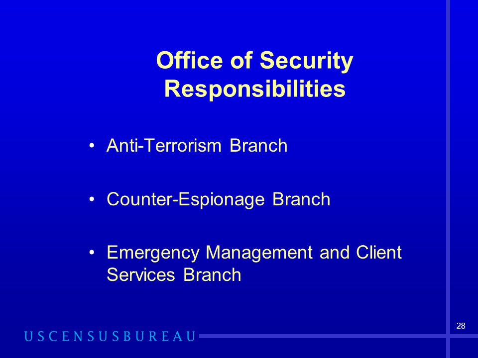 Office of Security Responsibilities